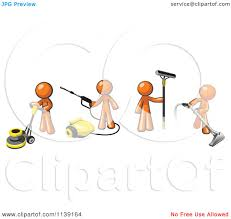Picture Of Floor Buffer by Clipart Of Orange Men Operating A Pressure Washer Floor Buffer