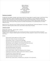Resume Objective For Preschool Teacher 25 Teacher Resume Formats Free U0026 Premium Templates