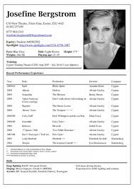 Musical Theater Resume Template Theater Resume Template Musical Theater Resume Format Resume