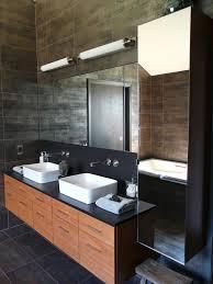 Modern Bathroom Mirrors This Bathroom Mirror Features Diy - Designer bathroom cabinets mirrors