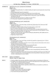 quality assurance resume engineer quality assurance resume sles velvet
