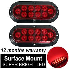 led lights for trucks and trailers tmh pack of 2 6 10 led surface mount oval red stop brake marker