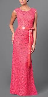 lace bridesmaid dress red long cap sleeve ribbon waist