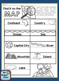 free us map elementary worksheet social studies pinterest us