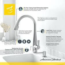 american standard fairbury kitchen faucet american standard kitchen faucet and colony soft handle high arc