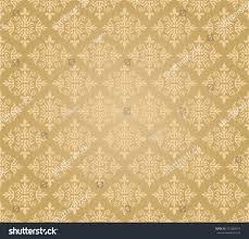 seamless golden floral wallpaper diamond pattern stock vector