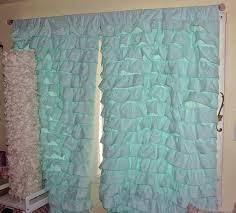 Etsy Drapes 2 Aqua Blue Turquoise Teal Waterfall Ruffled Curtains Egyptian 100