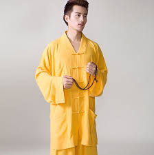 catholic supplies catholic buddhist monk suit linen cotton cloth button frock coat