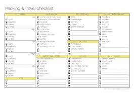 travel checklist images Free printable packing and travel checklist the organised jpg