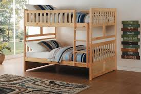 homelegance bartly full over full bunk bed natural pine b2043ff