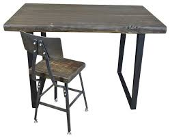 Reclaimed Wood Executive Desk Reclaimed Wood Computer Desk Steel Legs Industrial Desks And