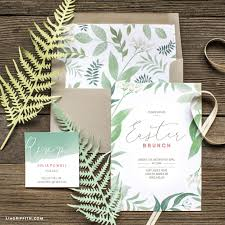 brunch invitations printable botanical easter brunch invitations