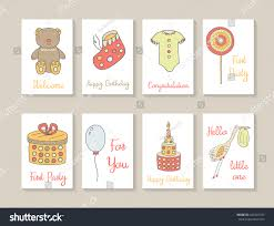 teddy bear baby shower invitations cute hand drawn doodle baby shower stock vector 342543107