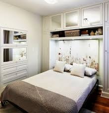 modern bed design for small bedroom with nice wardrobe closet bed