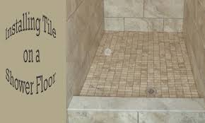 how to install a mosaic tile on a shower floor