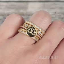 rhinestone bands rhinestone fashion ring stack monograms fashion