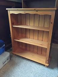 pine bookcase for sale u2022 20 00 picclick uk pine bookshelves for