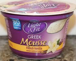 light and fit vanilla yogurt dannon light fit french vanilla greek yogurt mousse review youtube