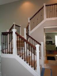Wood Banisters And Railings Hand Railing Rod Iron Balusters And Oak Hand Rail Finish