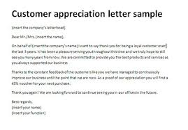 customer appreciation letter sle thank you client letter