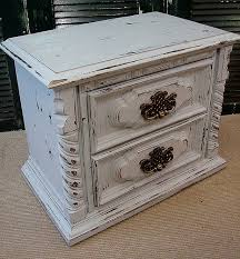 antique distressed white painted nightstand white paints