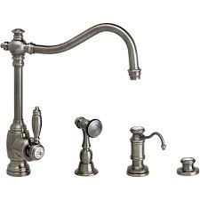 Waterstone Kitchen Faucets by Waterstone 4200 3 Ch Annapolis Suite Chrome One Handle With