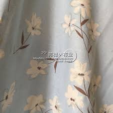 Wholesale Fresh Flowers Blue Narcissus Pure Linen Cloth Dyeing Fabric Wholesale Fresh