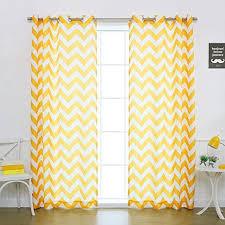 Grommet Chevron Curtains Yellow Chevron Curtains Amazon Com