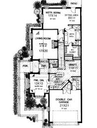 House Plans For Narrow Lot Plan 33047zr Energy Saving Courtyard House Plan Dream House