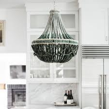 bead chandelier wooden bead chandelier pfeifer studio