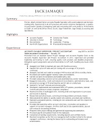 Account Payable Sample Resume by Sample Resume For Accounts Payable Specialist Resume For Your