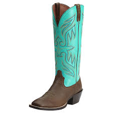 Ariat Women U0027s Round Up Buckaroo Square Toe Brown Cowgirl Boots