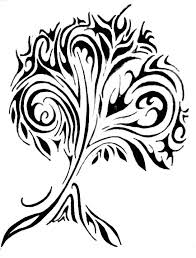 black tribal tree design