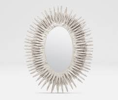 made goods donatella oval mirror silver u2013 clayton gray home