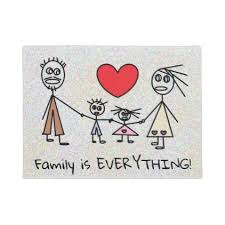 family is everything stick family design doormat stick