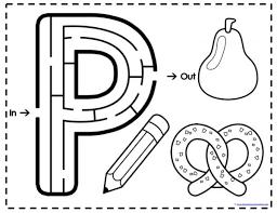 alphabet mazes letters p to t