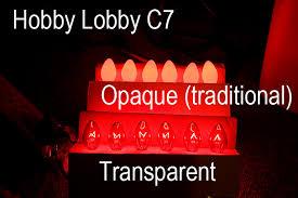 c7 side by side opaque vs transparent lights lights lights