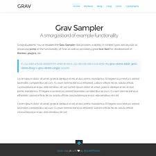 pages grav documentation
