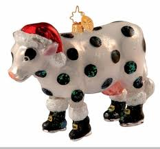 christopher radko udder ornament cow ornaments sold out