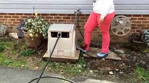 new battery operated foot pedal hose reel youtube