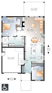 floor plan free accessible barrier free house plan 22382dr architectural