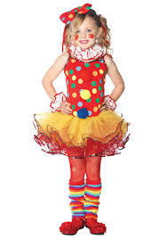 child tutu circus clown costume girls clown halloween costumes