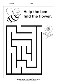 preschool maze printable worksheets pinterest