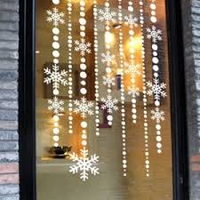 snow decoration free shipping wallpaper christmas snow curtain show window glass