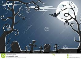 vector halloween vector halloween illustration of scary cemetery stock photos