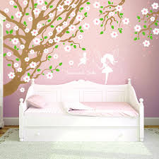 wall decal cherry tree with owls cherry blossoms fairies saying wall decal cherry tree with owls cherry blossoms fairies saying sweet dreams and desired name quadcolor