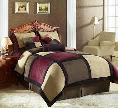 Zebra And Red Bedroom Set 7pcs Full Avenue Micro Suede Comforter Set