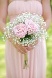 baby s breath bouquets rustic pink wedding filled with burlap and baby s breath