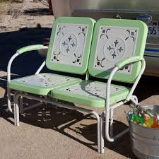 Old Fashioned Metal Outdoor Chairs by Buy Coral Coast Paradise Cove Retro Metal Outdoor Glider Loveseat