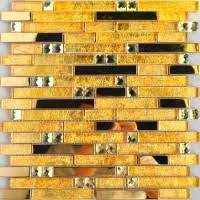 Gold Items Crystal Glass Mosaic Tile Wall Backsplashes by Gold 5 Side Glass Mirror Tile Crystal Glass Mosaic Wall Tile